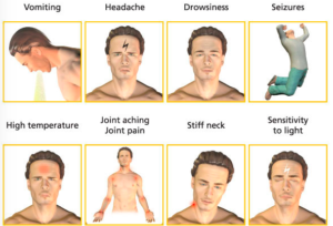 graphic illustrates symptoms